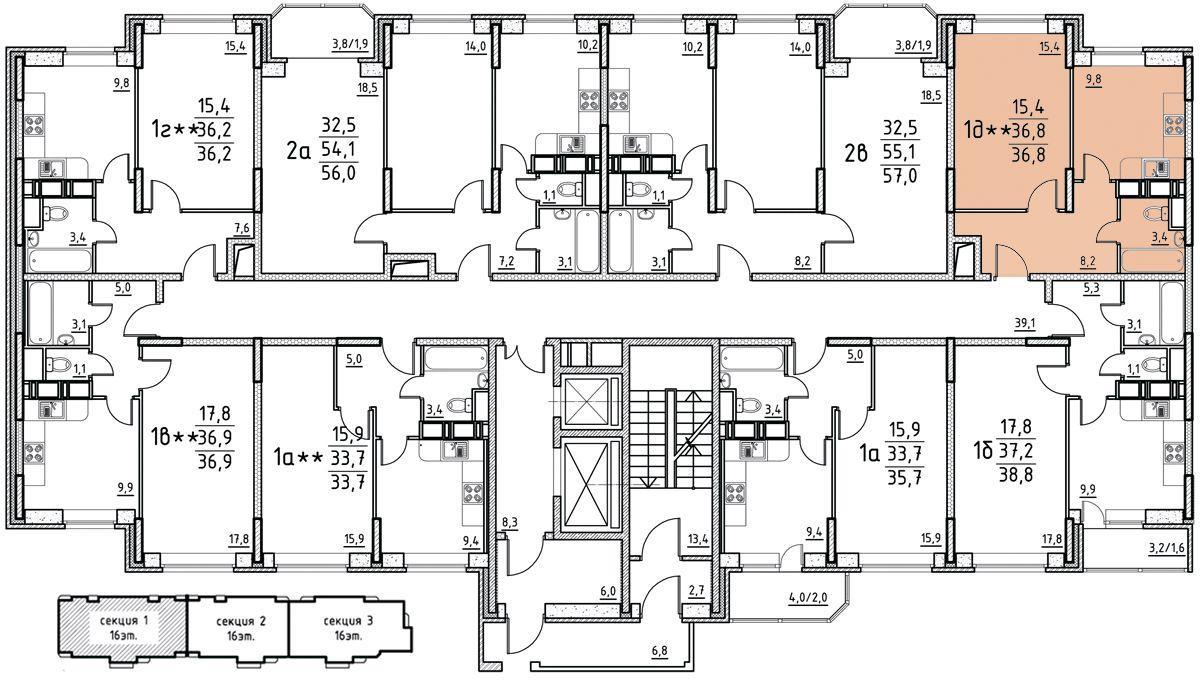 Планировки корпус 39