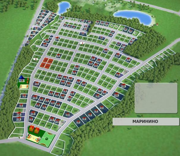 Дачный посёлок «Маринино» генплан №1