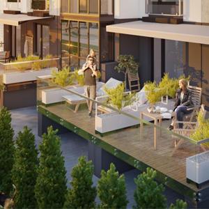 Доля квартир с террасами в историческом центре составляет менее 1%