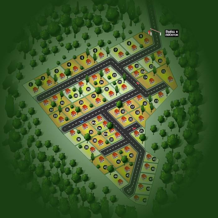 КП «Истринский лес» генплан №1