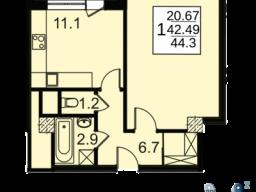 Продам однокомнатную квартиру в новостройке 44.3 м2 город Москва, улица Автозаводская, 23к2